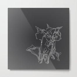 Cat Movement Metal Print