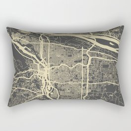 Portland Map Rectangular Pillow