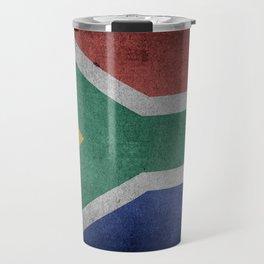 Vintage Grunge flag of South Africa Travel Mug