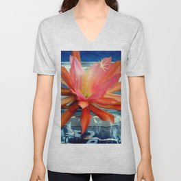 The Water Lily Cactus Unisex V-Neck