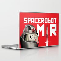soviet Laptop & iPad Skins featuring Retro Soviet minimalism space robot by Cardula