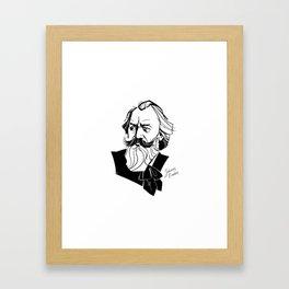 Johannes Brahms Framed Art Print