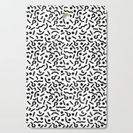squiggly 80s white Cutting Board