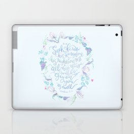 Seek First His Kingdom - Matthew 6:33 Laptop & iPad Skin