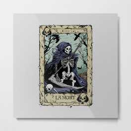 Death Card Metal Print