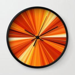 Bright Orange Sun Glare Wall Clock