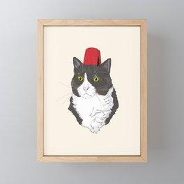 Fez Hat Cat Framed Mini Art Print