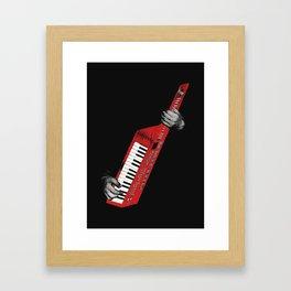 Keytar - Red Framed Art Print