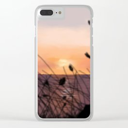 The Sunset on the Sea. Clear iPhone Case