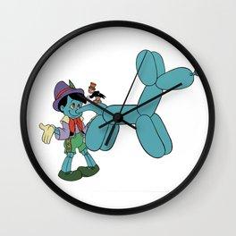 Lie like a dog Wall Clock