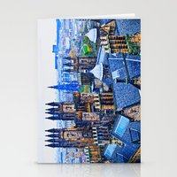 edinburgh Stationery Cards featuring Edinburgh Rooftops  by Valerie Paterson