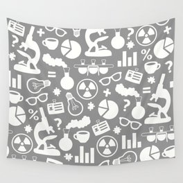 Grey Scientist Wall Tapestry