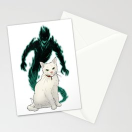 Mogget (green) Stationery Cards