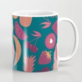 Fruity Pattern Monochrome Orange  Coffee Mug
