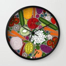 the good stuff taupe Wall Clock