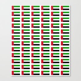 flag of UAE -united arab Emirates,Abu dhabi, dubai,emirati,الإمارات Canvas Print