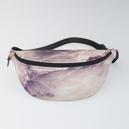 Pink marble texture effect Fanny Pack