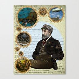 Jules Verne, a Steampunk vision Canvas Print