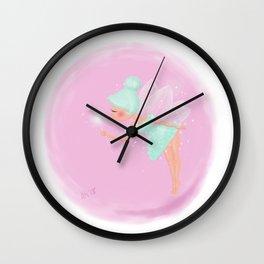 Mint Fairy Wall Clock