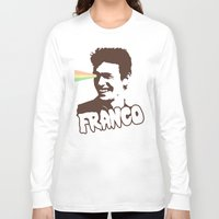 james franco Long Sleeve T-shirts featuring Magic Franco by One Giant Eye