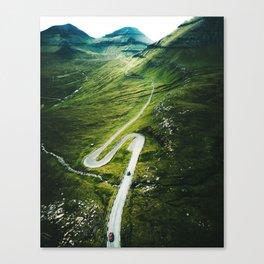 winding road in the faroe islands Canvas Print