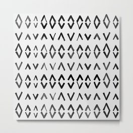 Scandinavian Diamond Pattern Metal Print