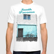 South Tacoma apartment White MEDIUM Mens Fitted Tee
