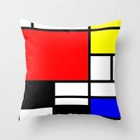ysl Throw Pillows featuring Mondrian by  Can Encin