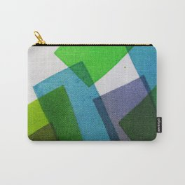 Composition Teal, Green and Violet Carry-All Pouch