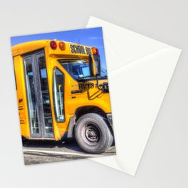 American School Bus Stationery Cards