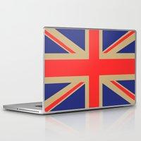 union jack Laptop & iPad Skins featuring Union Jack by MeMRB
