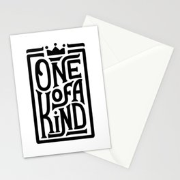 One of a Kind. Hand-lettered quote print Stationery Cards