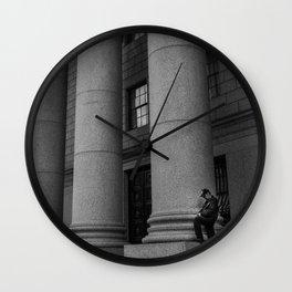 Man & Big Stone Billars, B Wall Clock