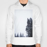 skiing Hoodies featuring Skiing Copper by Amelia Vilona