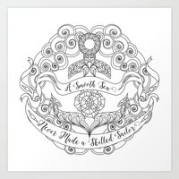 Anchor Tattoo Color Your Own Art Skilled Sailor Quote Art Print