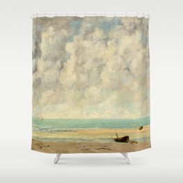 Gustave Courbet - The Calm Sea Shower Curtain