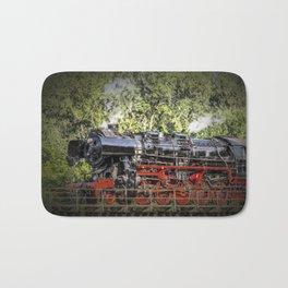 steam train Bath Mat
