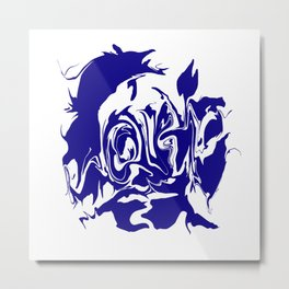 face4 blue Metal Print