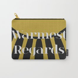 Warmest Regards in Black and Gold Carry-All Pouch