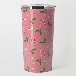 candy canes and holly Travel Mug