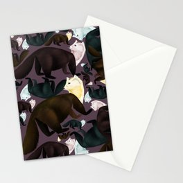 Sable Marten tropical  EggPlant Stationery Cards