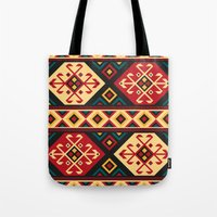 kilim Tote Bags featuring Colorful Kilim by Pattern Design