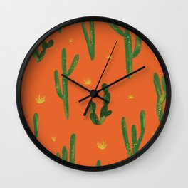 Desert Vibes Orange Wall Clock
