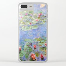 Claude Monet's Water Lilies Clear iPhone Case