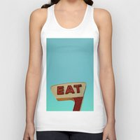 eat Tank Tops featuring Eat by bomobob