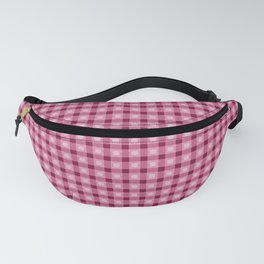 Red pattern. Lines. Geometric figures. Fanny Pack