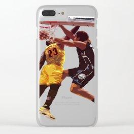 Malcolm Brogdon Dunk on LeBron James Clear iPhone Case