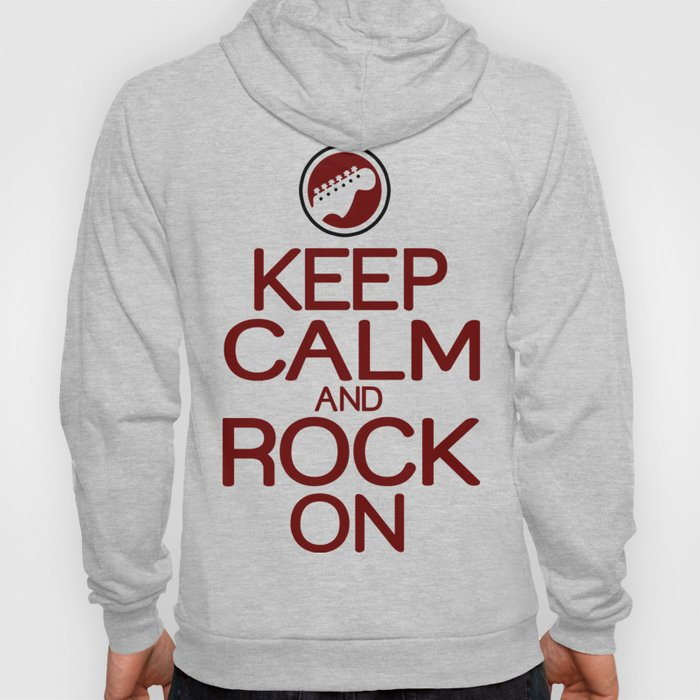 Keep calm rock on Hoody