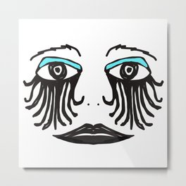 Gothic Face Metal Print