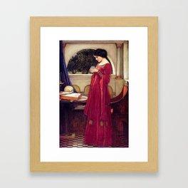John William Waterhouse The Crystal Ball Framed Art Print